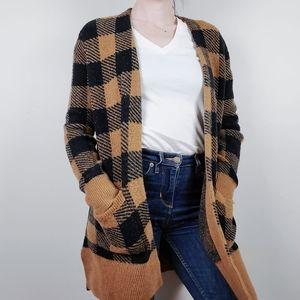 Madewell Buffalo check kent cardigan coziest yarn